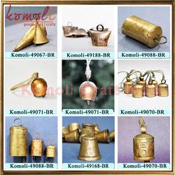 Small Iron Tin Metal Indian Rustic Cow Bells Wholesale