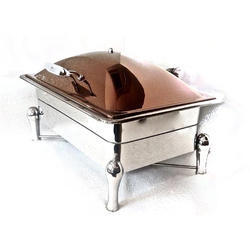 Grand Hydraulic Rectangular Rose Gold Chafer