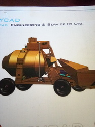 Reversible Concrete Mixer with Hopper