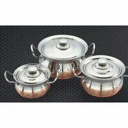 Copper Line and Copper Designer Bruit Serving Bowl Set