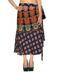 Rajasthani Maxi Length Printed Casual Skirt For Women's