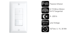 Motion Sensor Dual Technology Wall Switches