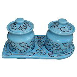 Blue Pottery Masala Boxes