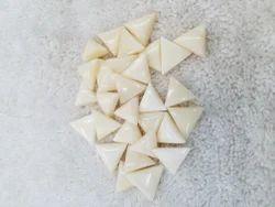 Triangle White Moonga Gemstone