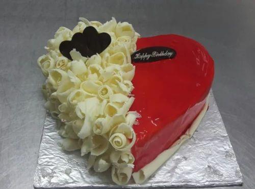 Red Velvet Cake Cool Happy Birthday Cake Manufacturer From Karaikal