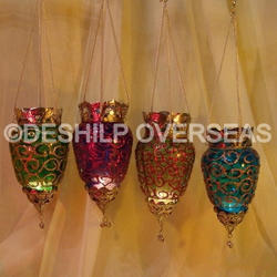 Colorful T Light Hanging