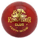 BDM Kingfisher Club Red Leather Ball