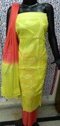 Aaditri Yellow Applique Work Suit