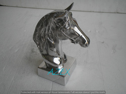 Metal Horse Head On Base