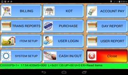 Tracker Tab: Android Tablet Based Billing Machine