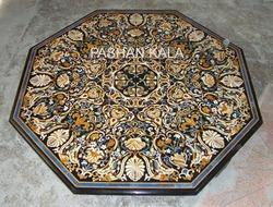 Octagonal Marble Inlaid Table Top