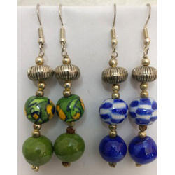 Packet Blue and Green Pottery Earrings