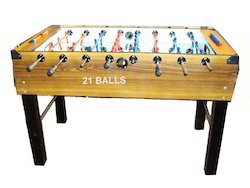 American Soccer Table Teak 2 X 4