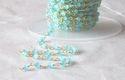 Blue Quartz Coin Rosary Chain