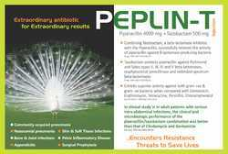 Pipercillin 4000mg Tazobactum  500 gm