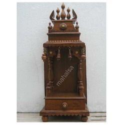 Teakwood Meenakshi Mantap Single Moorthy Carved (TMK1CR12_H)