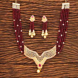 Antique Pearl Beaded Mala Pendant Set 19265