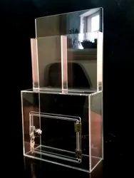 Acrylic Drop Box With Lock
