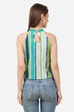 Fancy Green Stripe Top