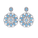 Gemstone Round Filigree Earrings