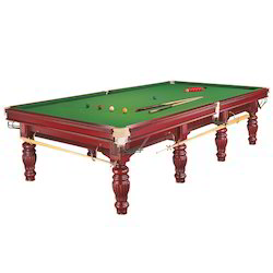 Brown Snooker Table