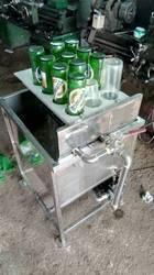 Semiautomatic Bottle Washing And Rinsing