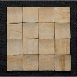 Teak 3D C Pattern Wall Mosaic