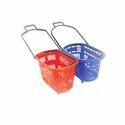 Plastic Basket With Wheel