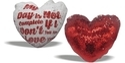 Both Side Sublimatable Magic Cushions Heart