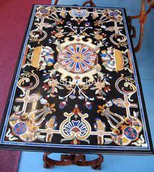 Rectangular Marble Inlay Table Top