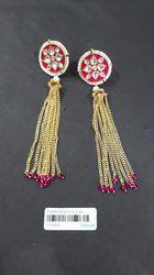Kundan Meenakari Tassel Earring
