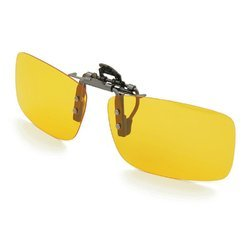 Kawachi Clip On Sunglasses Sport Driving Night Vision Yellow Lens Sun Glasses For Men Women