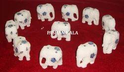 Inlay Marble Elephants