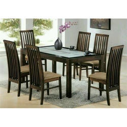 6 Seater Wooden Modern Dining Table