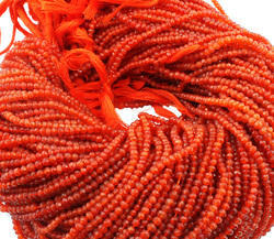 Carnelian Gemstone Faceted Beads