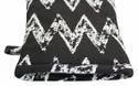 Black With White Zig Zag Print Glove