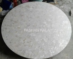 White Mother Of Pearl Table Top