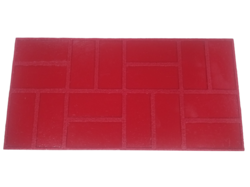 New Brick Basket Weave Concrete Stamp