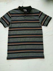Collar Striped T-Shirts