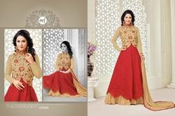 Embroidered Full Sleeve Heenari Salwar Suit