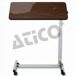 Adjustable Bedside Table with Geared Handle