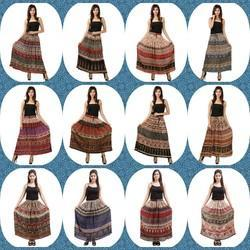 Bagru Print Long Skirts