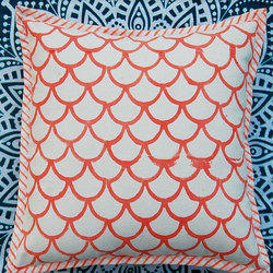 Canvas Block Printed Cushion Cover