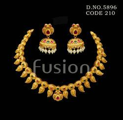 Polki Traditional Necklace Set