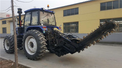 Double China Trencher For Irrigation Canal Tractor