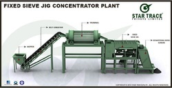 Fixed Sieve Jig Concentrator Plant