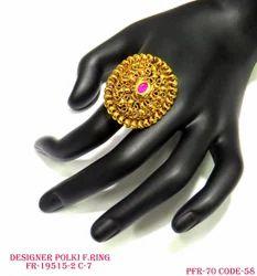 Pink Antique Wedding Finger Ring