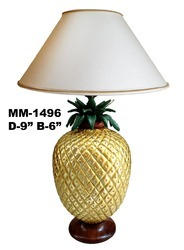 Metal Table Lamp Pineapple Shape