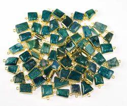 Agate Druzy Bezel Connectors