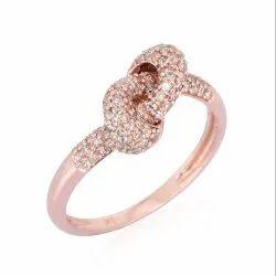 Rose Gold Diamond Knot Ring